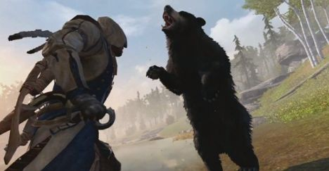 I'm not sure what image would be relevant for this section, so here's Connor fighting a bear. Bear fights are also a thing Star Wars should take from Assassin's Creed