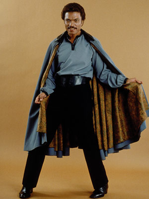 Lando Calrissian: handsome, charming, and an unquestionably natural entry point for more black characters