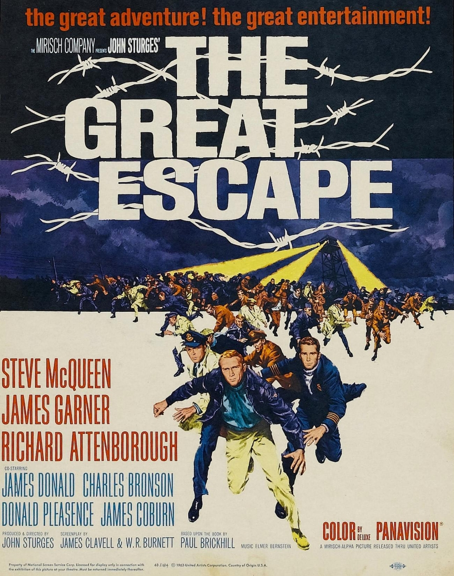 The Great Escape, maybe the greatest prison escape movie, so it's pretty well named