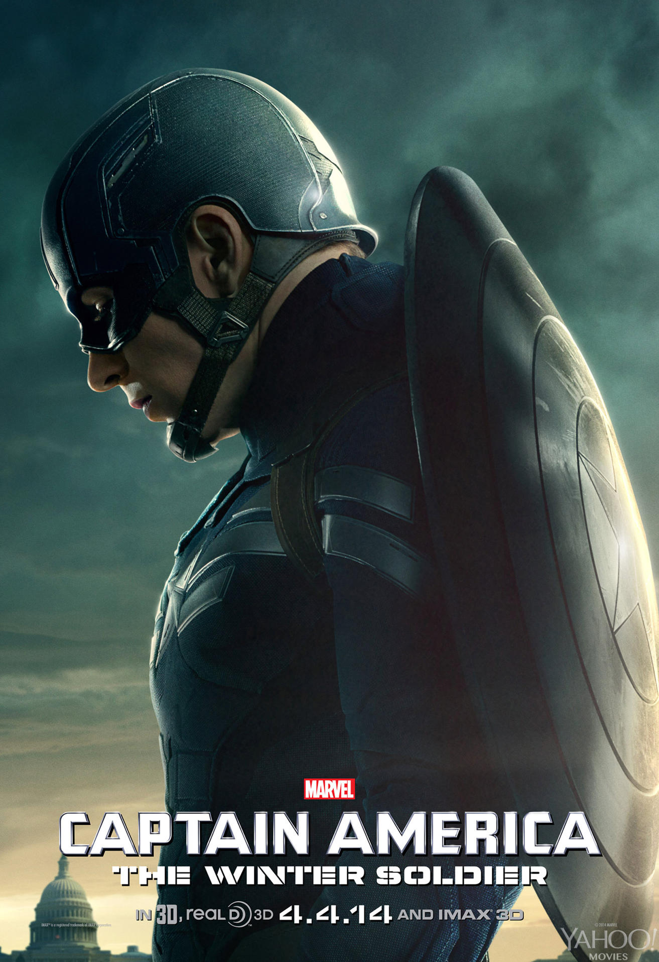 Captain America: The Winter Soldier, coming soon to theaters near you, unless it's already there