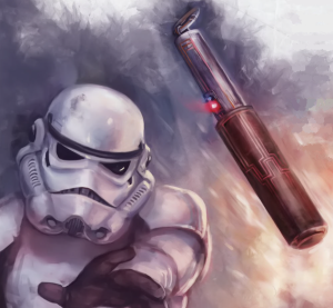 At the very least, getting blown up by your own grenade would be a novelty after decades of being shot in the face by your own returned blaster bolts.