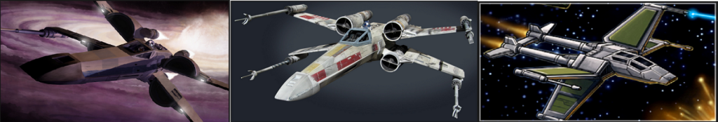 Things change over time. This change is far from the most radical we've seen. At least that one LOOKS like an X-wing.