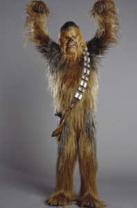 """I remember the memos from 20th Century Fox, 'Can you put a pair of lederhosen on the Wookie [sic]?' All they could think of was, 'This character has no pants on!' This went back and forth. They did sketches of him in culottes and baggy shorts.""—Mark Hamill"