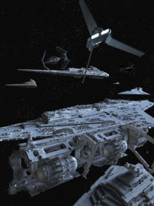 We've never quite managed to replicate the success of the Original Trilogy's designs: there's just something elegant in the simplicity of flying triangles and letters.