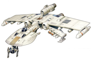 There's something about the K-wing that I've always liked: I'm not sure if it's how closely it resembles its titular letter or the fact that it has more guns than Kyle Katarn, but it works.