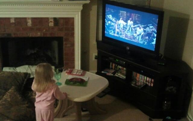 """I think…this is a good movie."" - Anne, a few days prior from turning 3, uponwatching A New Hope for the first time, her first Star Wars film."