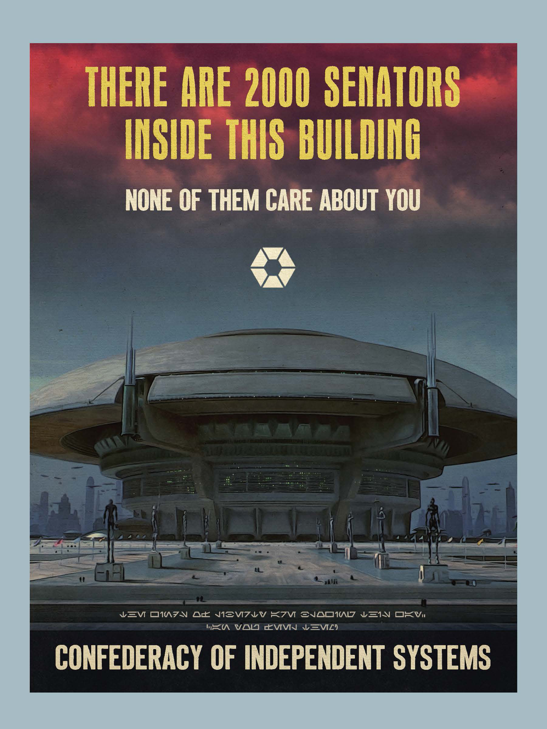 In Pablo Hidalgo's Star Wars Propaganda: A History of Persuasive Art in the Galaxy, he illustrates the rise in apathy from outer and mid rim planets who believed the Republic was corrupt and undemocratic.