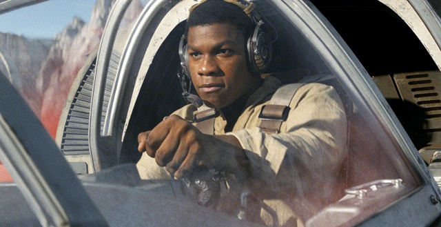 Star Wars: The Last JediFinn (John Boyega) in a Ski Speeder on Crait
