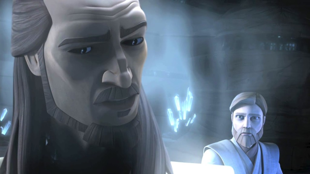 Qui-Gon Jinn as a Froce Ghost in The Clone Wars
