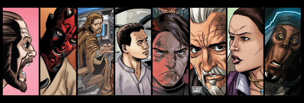 Panels from each Age of Republic issue