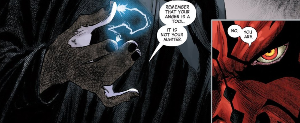 Sidious exerts his authority with Force Lightning