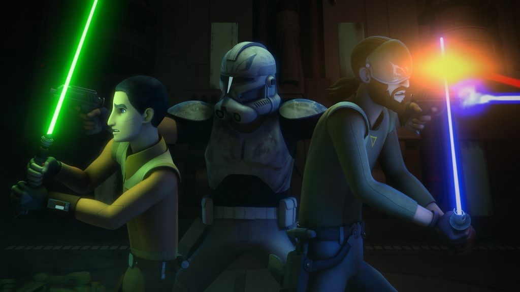 Kanan, Ezra, and Rex in The Last Battle in Rebels